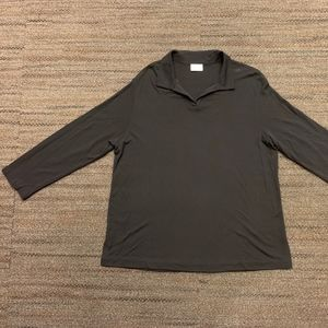 Black Eileen Fisher leisure top, long-sleeved